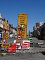 Travaux de la branche vers Vieux-Condé de la ligne B du tramway de Valenciennes en avril 2013 (011).JPG