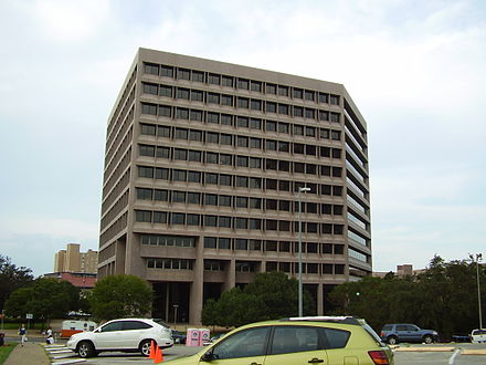 The main offices of the Railroad Commission of Texas are located in the William B. Travis State Office Building TravisStateOfficeBuilding.JPG