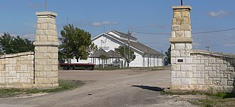 WaKeeney, Kansas - Trego County fairgrounds exhibit building in WaKeeney (2014)