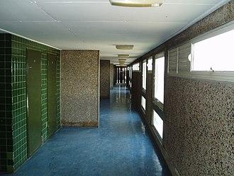 Trellick Tower - One of Trellick Tower's interior corridors