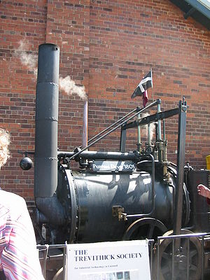 History of the automobile - A replica of Richard Trevithick's 1801 road locomotive 'Puffing Devil'