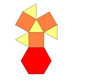 Triangular cupola - Image: Triangular cupola net