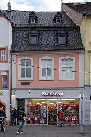 Henriette Pressburg - 8, Simeonstrasse, Trier: home of Marx family 1819–42