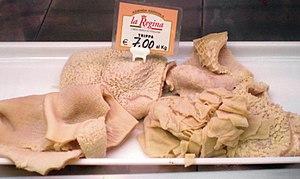 Tripe - Tripe in an Italian market
