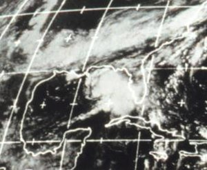 1970 Atlantic hurricane season - Image: Tropical Storm Becky (1970)
