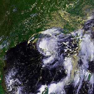 Tropical Storm Hermine (1998) - Image: Tropical Storm Hermine 19 sept 1998 2041Z