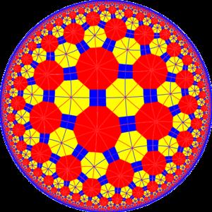 Truncated tetrapentagonal tiling - Image: Truncated tetrapentagonal tiling with mirrors