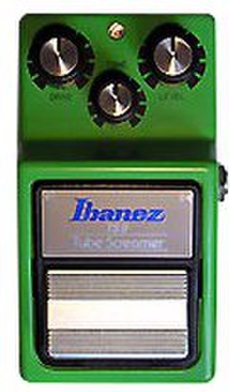 Distortion (music) - The Ibanez TS9 Tube Screamer is a popular overdrive pedal