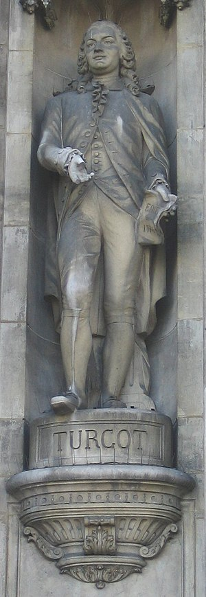 Anne Robert Jacques Turgot - Statue of Turgot at the Hôtel de Ville, Paris.