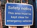Tyseley Station - sign - Safety Notice (6155890426).jpg