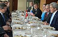 U.S. Secretary of State John Kerry attends a working lunch with Turkish Foreign Minister Ahmet Davutoglu in Istanbul, Turkey on April 21, 2013.jpg