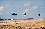 UH-60As over Port Salines airport Grenada 1983