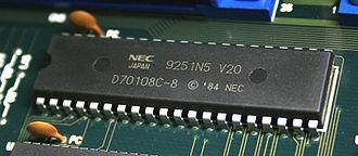 NEC V20 - NEC V20 (µPD70108), 8 MHz