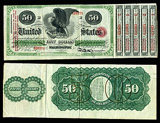 Interest bearing note Grouping of Civil War era paper money-related emissions of the US Treasury