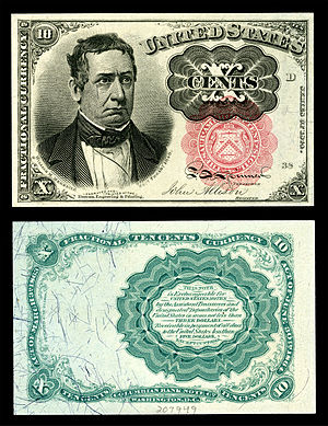 William M. Meredith - Meredith depicted on the 5th issue 10-cent Fractional currency note.