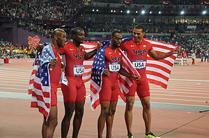 4×100 metres relay at the Olympics - The 2012 Olympic men's 4×100 m - USA team