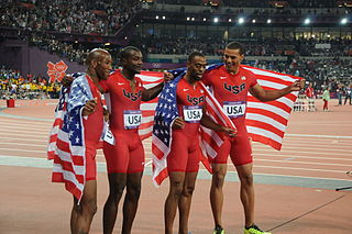 4 × 100 metres relay at the Olympics