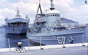 USS Apache (ATF-67) and USS White Sands (ARD-20)