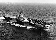 USS Bennington (CV-20) underway at sea on 20 October 1944