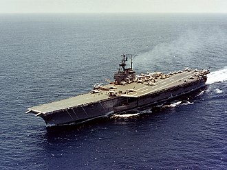 USS Forrestal (CV-59) - Image: USS Forrestal (CVA 59) underway at sea on 31 May 1962 (KN 4507)