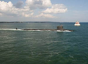 USS North Dakota (SSN-784) underway during trials in August 2014.JPG