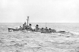 USS Radford (DD-446) - Radford off Korea in 1951.