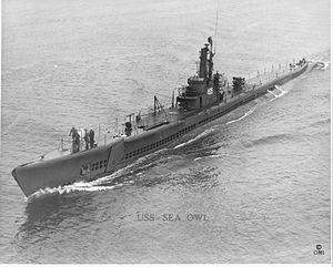 Sea Owl (SS-405), World War II appearance.