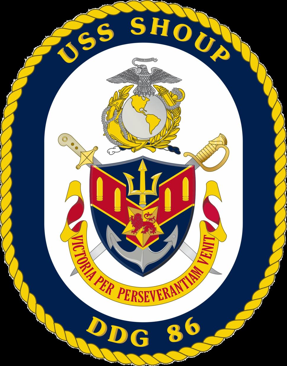 USS Shoup DDG-86 Crest