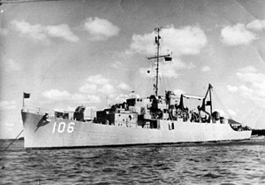 USS Walter B. Cobb (APD-106) off Long Beach, in 1955.jpg