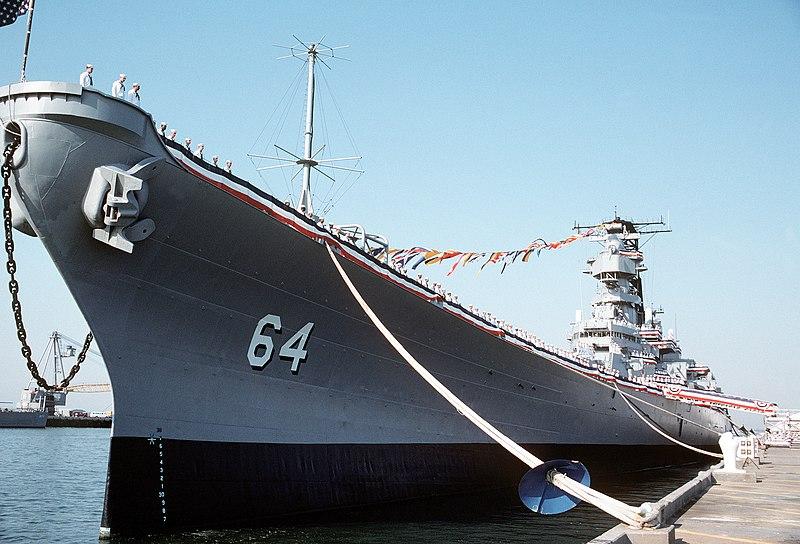 File:USS Wisconsin (BB-64) decommissioning.jpg