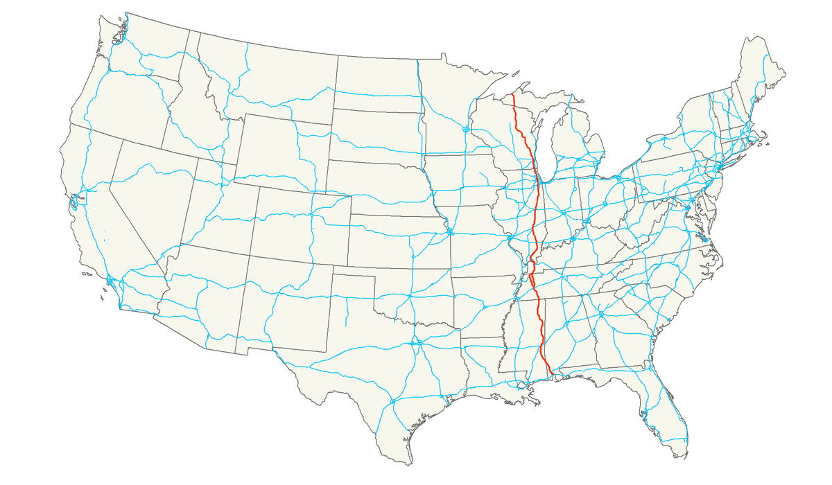 Us Route 45 Map U.S. Route 45   Wikipedia