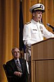 US Navy 050722-N-2383B-008 Adm. Mike Mullen delivers his address as Secretary of the Navy Gordon England listens during the Chief of Naval Operations change of command ceremony.jpg