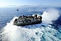 US Navy 100122-N-5345W-006 A landing craft air cushion exits the well deck of USS Bataan (LHD 5).jpg