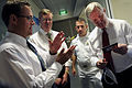 US Navy 100128-N-5549O-088 ecretary of the Navy (SECNAV) the Honorable Ray Mabus looks at a photo-electrochemical solar cell while touring the Commonwealth Scientific and Industrial Research Organization energy center in Newcas.jpg