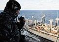 US Navy 100208-N-3885H-128 Seaman Jon Blankenship stands watch aboard the aircraft carrier USS George H.W. Bush (CVN 77).jpg