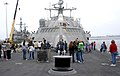 US Navy 100601-N-7058E-036 USS Freedom (LCS 1) hosts family members during a tour at Naval Base San Diego.jpg