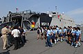 US Navy 110207-N-7589W-012 Students and faculty from Colegio Liceo Alpha ^ Omega approach the High Speed Vessel Swift (HSV 2) for a tour as part of.jpg
