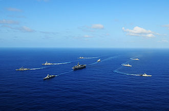 Malabar (Naval Exercise) - U.S. Carrier Strike Group Ronald Reagan with the Indian Navy