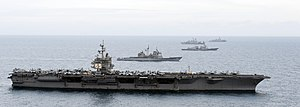US Navy 120123-N-JL826-156 The Enterprise Carrier Strike Group maneuvers into formation.jpg