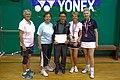 US Senior International Badminton Tourney (Miami) - WD65 Consolation - Anne & Barbra def Jeannine & Eliana 7 & 15 (16462176598).jpg