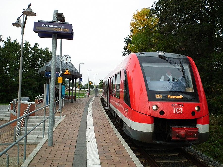 Ueckermünde Stadthafen station