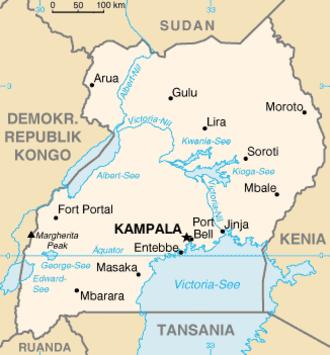Sebei people - Map of Uganda, where most Sebei live