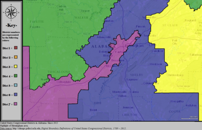 United States Congressional Districts in Alabama (metro highlight), since 2013.tif