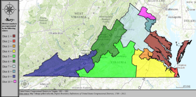 United States Congressional Districts in Virginia, 1983 – 1992.tif