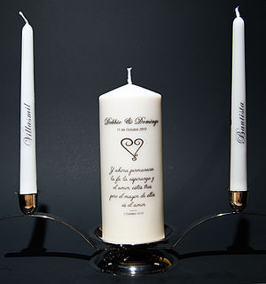 Unity candle - A personalized Unity Candle set