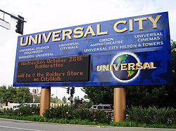 The Universal City Sign On Corner Of Lankershim Boulevard And Hollywood Drive
