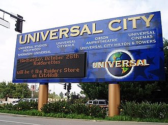 Universal City, California - The Universal City sign, on the corner of Lankershim Boulevard and Universal Hollywood Drive, 2009.