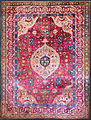 Unknown, Iran, mid-16th Century - The Rothschild Small Silk Medallion Carpet - Google Art Project.jpg