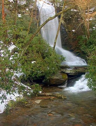 Catawba Falls - Upper Catawba Falls, December 2009