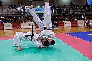 Ura nage - Practitioners demonstrating Ura-nage throw.